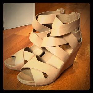 Dolce Vita tan leather wedges size 7.5